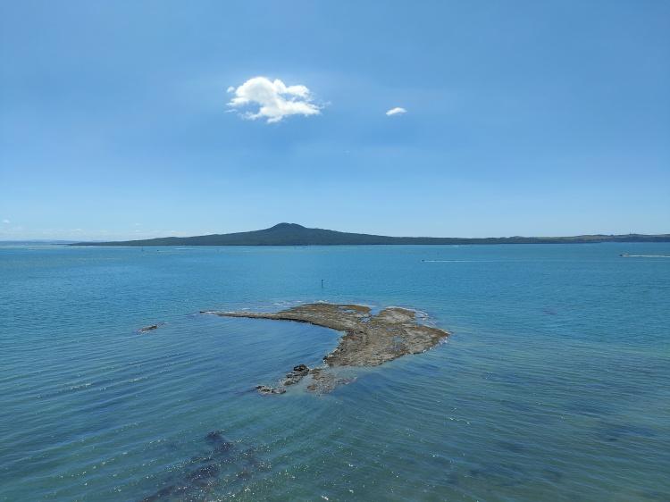Rangitoto Island across the bay