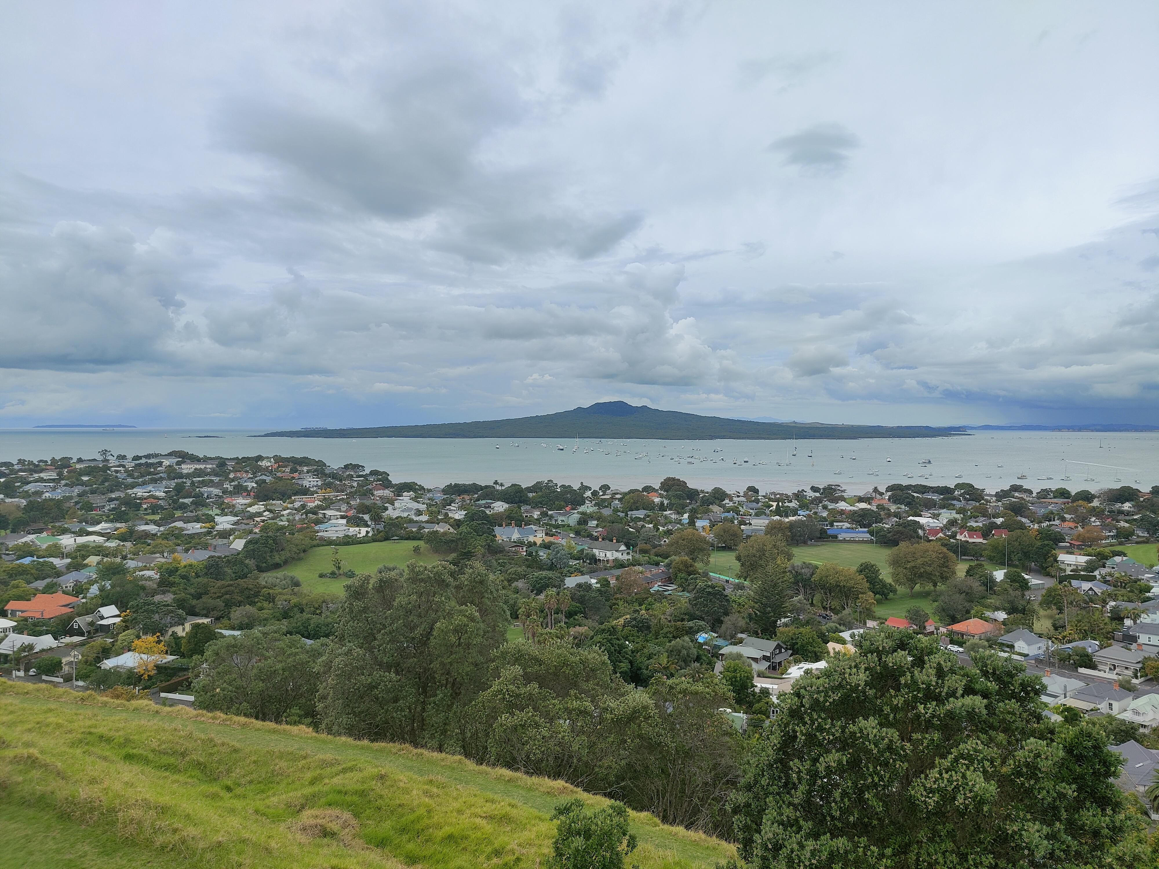 Rangitoto Island from Mt Victoria